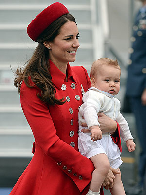 Will, Kate & George Land in New Zealand – See The Pic!| The British Royals, The Royals, Kate Middleton, Prince George, Prince William