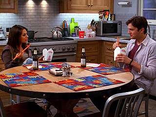 See Mila Kunis and Ashton Kutcher Joke About Dating on Two and a Half Men