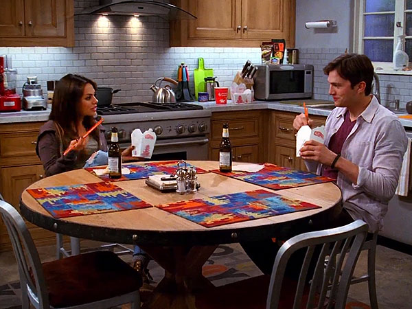 Watch Mila Kunis and Ashton Kutcher Joke About Dating on Tow and a Half Men
