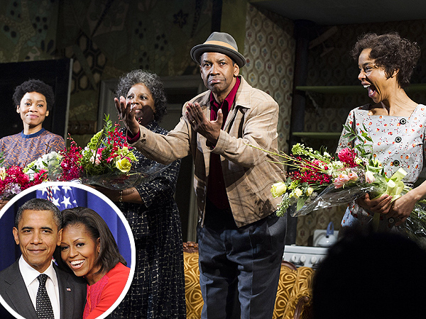 President Obama and Michele Obama See A Raisin In the Sun