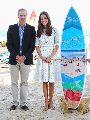 George Is a Prince of Tides with His Very Own Surfboard | Kate Middleton, Prince William