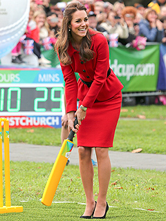 See Kate Play Cricket – in Heels