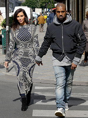 Kim Kardashian and Kanye West Sweep Through Paris Checking on Wedding Details