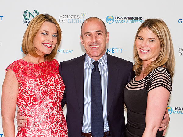 Savannah Guthrie Pregnant Matt Lauer Jenna Bush Hager Make a Difference Day awards red carpet