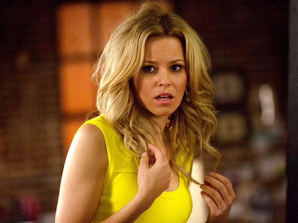 Follow Elizabeth Banks During Her Big Press Day for Walk of Shame (Photos)