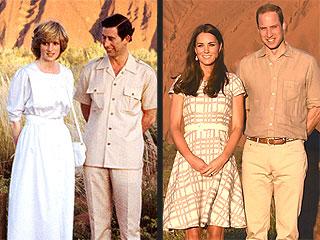 Seeing Double? Kate & William Pose Like Charles & Diana at Australian Landmark | Kate Middleton, Prince Charles, Prince William, Princess Diana
