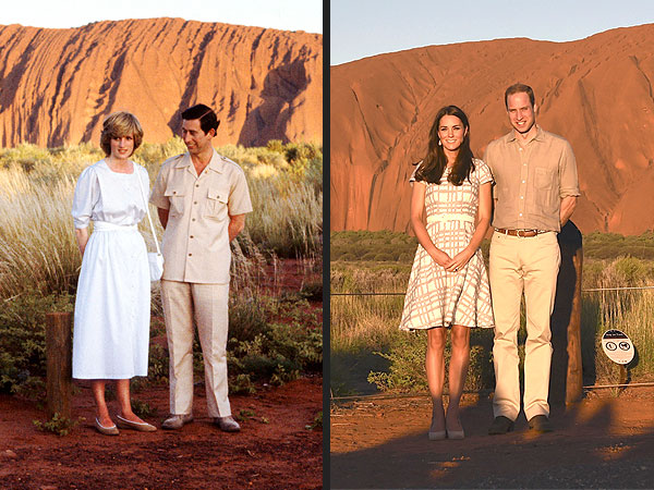 Kate and William Pose Just Like Charles and Diana at Australian Landmark