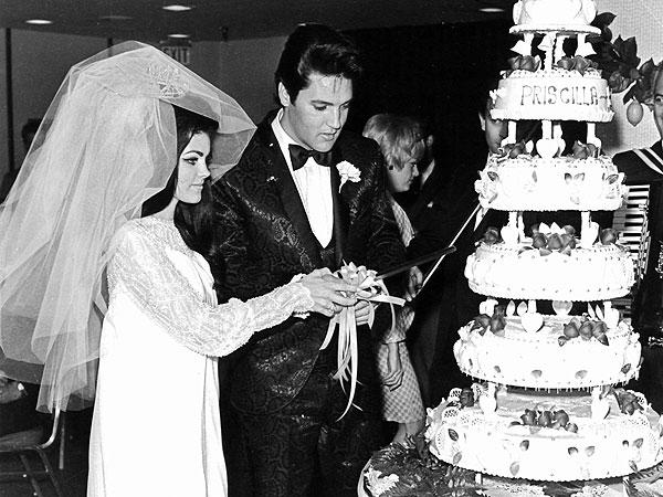 Elvis Priscilla Wedding Cake
