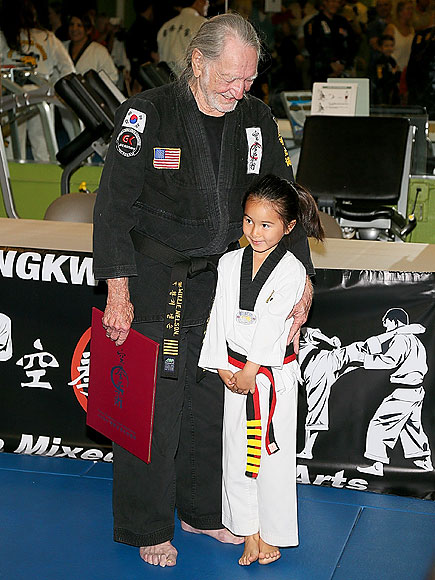 See Charming Photos from 81-Year-Old Willie Nelson's Black Belt Ceremony| Willie Nelson