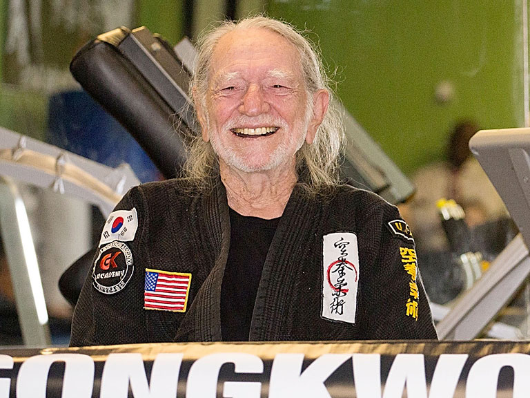 See Charming Photos from 81-Year-Old Willie Nelson's Black Belt Ceremony