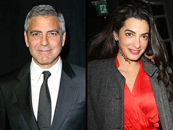 George Wines and Dines Amal in Venice