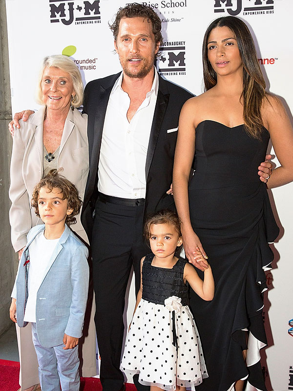 Matthew McConaughey and Family at Mack, Jack & McConaughey charity gala