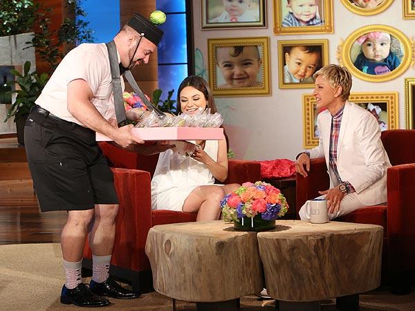 Mila Kunis Ellen DeGeneres pregnancy