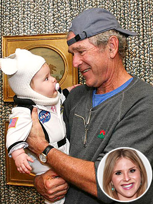 Laura and George W. Bush Keep in Touch with Their Granddaughter Via iPad