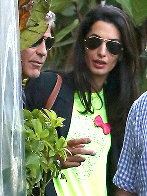 George Clooney 'Had a Cheeky Grin' While Celebrating Engagement to Amal Alamuddin