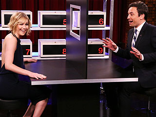 Watch Jennifer Lawrence Rib Jimmy Fallon for Ditching Her in Front of Jennifer Lopez