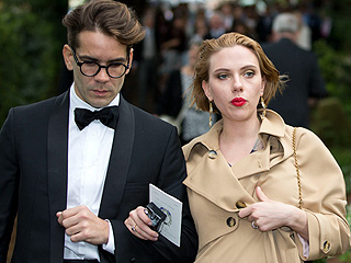PHOTO: Scarlett Johansson and Fiancé Attend an English Wedding