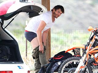 Ashton Kutcher Hits the Dirt in Motocross Mishap – and Strips to His Skivvies (Photo) | Ashton Kutcher