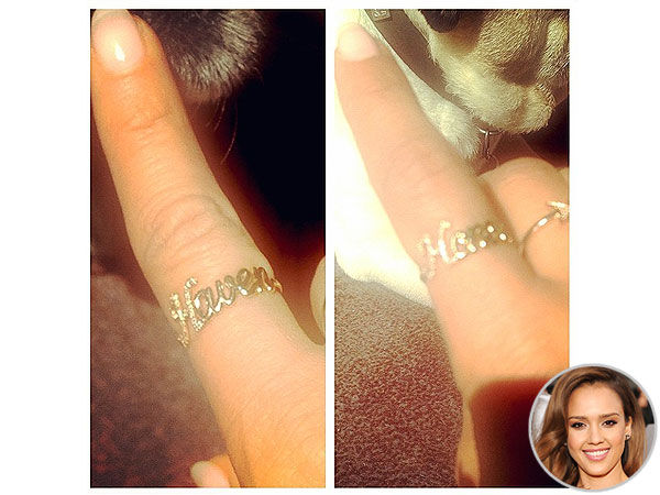 Jessica Alba Ellea Double Ring Thea by Emilie Duchene