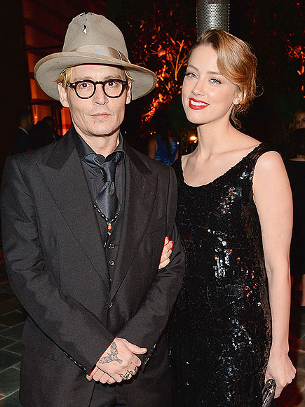 Johnny Depp and Amber Heard Enjoy a Date Night at an L.A. Gala