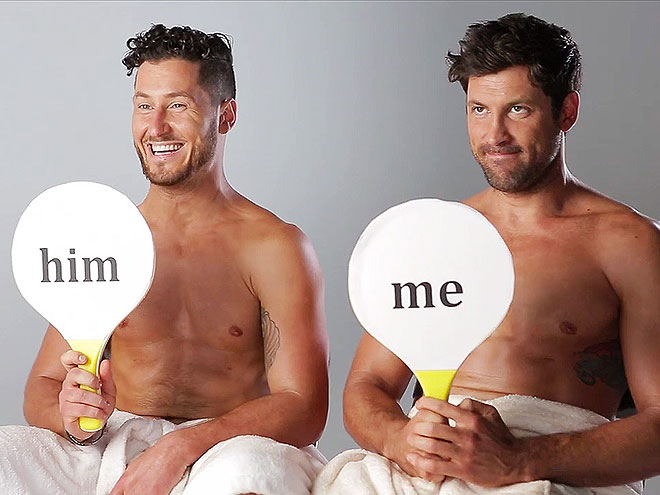 Maks & Val Chmerkovskiy Wear Nothing but Hats (and Not on Their Heads!)