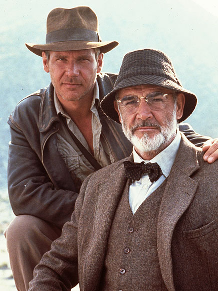 Sean Connery Harrison Ford Harrison Ford And Sean Connery
