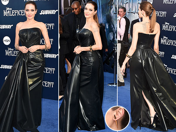 Angelina Jolie Atelier Versace gown Maleficent World Premiere