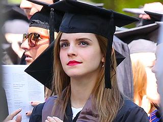 Emma Watson Graduates from Brown University (Photo)