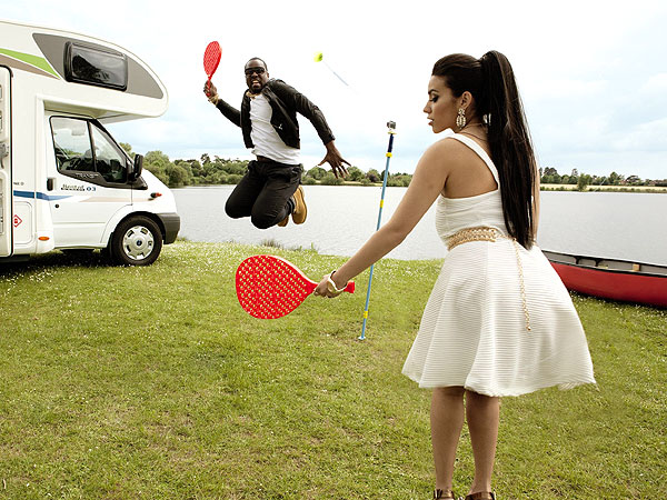 Kim Kardashian and Kanye West Go Camping in Spoof Honeymoon Photos| Wedding, Kanye West, Kim Kardashian