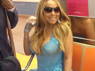 Diva Express! Mariah Carey Rides N.Y.C. Subway in a Glittering Gown