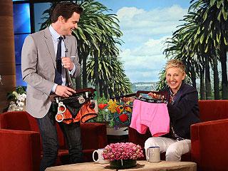 Matt Bomer Teases Magic Mike Sequel, Gets Racy Stripper Gear from Ellen