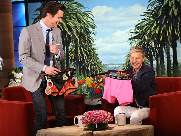 Matt Bomer Teases Magic Mike Sequel, Gets Racy Stripper Gear from Ellen