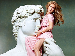 See Which Vegas Star Was Hoisted 18 Feet in the Air to Be in David's Arms | People, Celine Dion