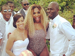 Serena Williams Crashed a Wedding, and You Won't Believe What She Wore