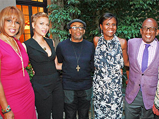 Spike Lee Hosts Star-Studded Dinner at His Home