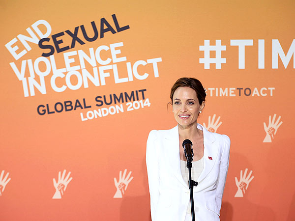 Angelina Jolie Speaks at Anti-Rape Summit