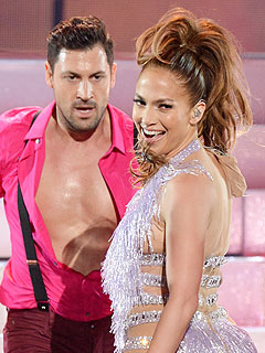 Jennifer Lopez Flirts with Maksim Chmerkovskiy   Jennifer Lopez, Maksim Chmerkovskiy