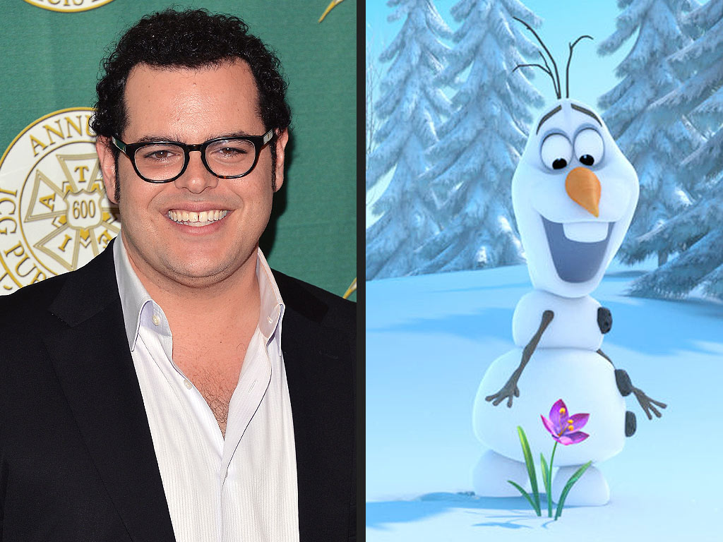 Josh Gad and Olaf the Snowman
