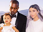 See North's Matching Givenchy Dress with Mom Kim Kardashian in Wedding Portrait