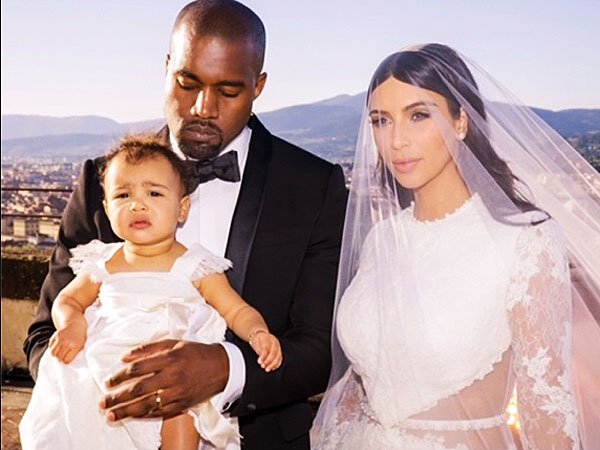 Kim Kardashian family wedding portrait