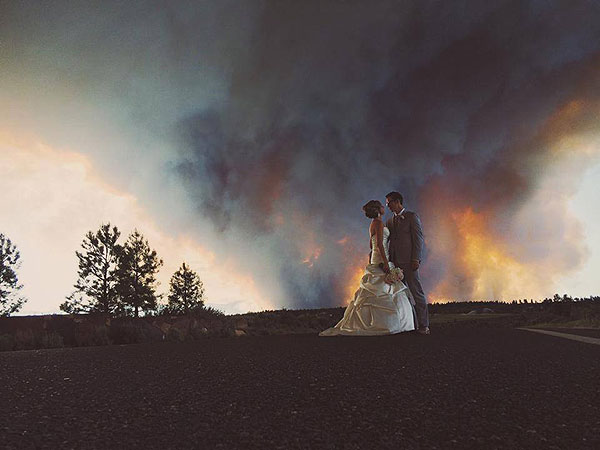 Wildfire Appears in Wedding Photo