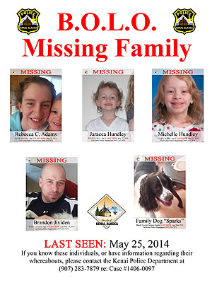 brandon jividen 300 Loved Ones Keep Searching Alaska Woods for Missing Family of Four