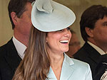 Kate Smiles for Prince William During Royal Processio