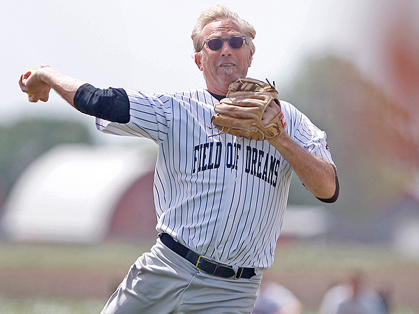 Kevin Costner Celebrates Field of Dreams at Iconic Baseball Diamond