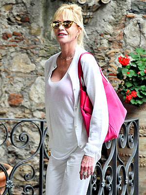 Melanie Griffith Tours Italy Without Wedding Ring