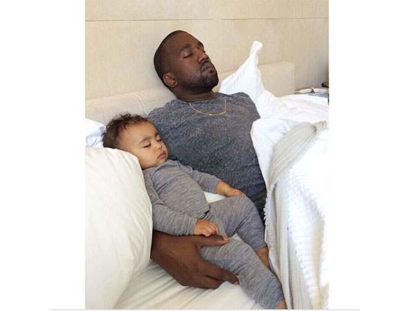 First Birthdays Are Exhausting! See Kanye and North West Nap It Off