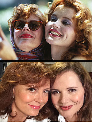 Thelma & Louise Stars Susan Sarandon and Geena Davis Reunite for Another Selfie
