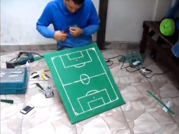 blind soccer 2 600 Brazilian Teacher Builds a Replica of Soccer Field for Blind Student