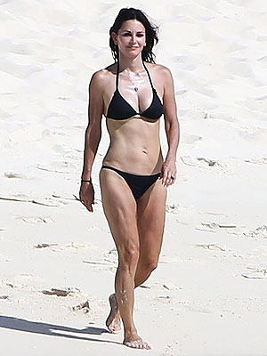 Courteney Cox Looks Fab at 50 in a Bikini
