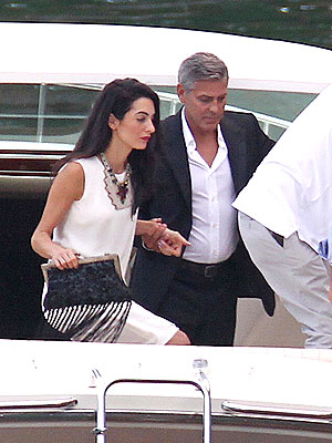 George Clooney and Amal Alamuddin Spend Time with Her Mother in Italy| Couples, Engagements, Weddings, Amal Alamuddin, George Clooney